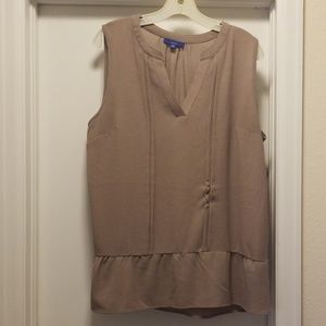Beige sleeveless shell